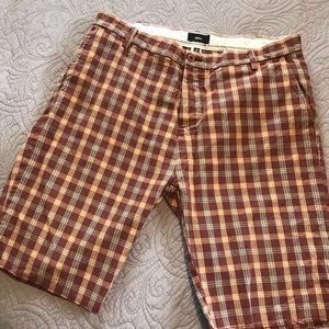 Obey Shorts Plaid Casual Athleisure Shorts Size 38